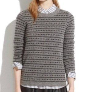 Madewell Black Heart Gray Sweater